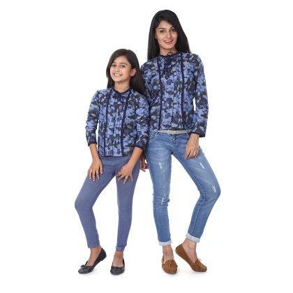 Ruffle Detailed Full Sleeve Shirt For Daughter - BonOrganik
