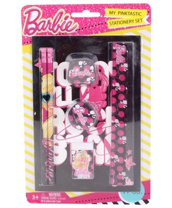 Barbie 7 Pieces Stationery Set - My Baby Excel