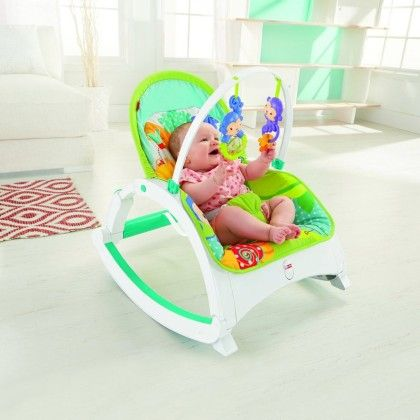 Rainforest Friends Newborn-to-toddler Portable Rocker - Fisher Price