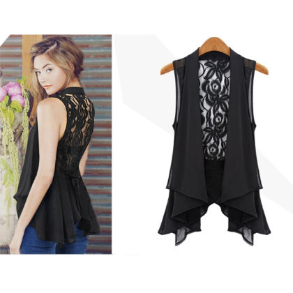 Designer Lace Shrug Black - Dell's World