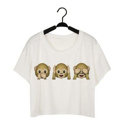 Monkey Print Crop Top - Dell's World