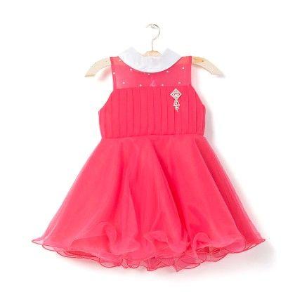 Dress With White Satin Ribbon - Red - My Princess