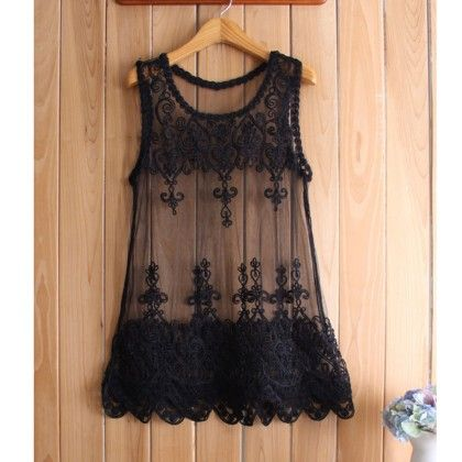 Black Sleevless Lace Shrug - Dell's World
