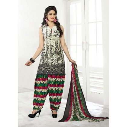 Designer Wear Georgette Suit Dress Material - Balloono - 303774