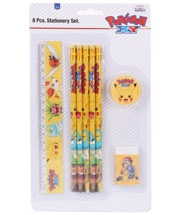 Pokemon 8 Pieces Stationery Set - My Baby Excel