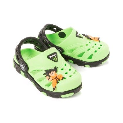 Clogs With A Boy Motif - Green - Black - Bonkerz By Anaira