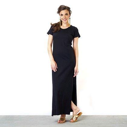 Black Round Neck Maxi Dress - The Label Life