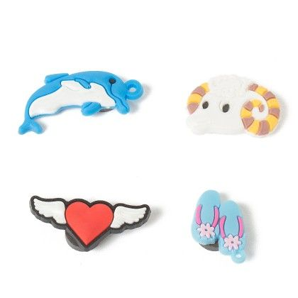Set Of 4 Tiny Magnets (dolphin Slippers Sheep Heart) - It's All About Me