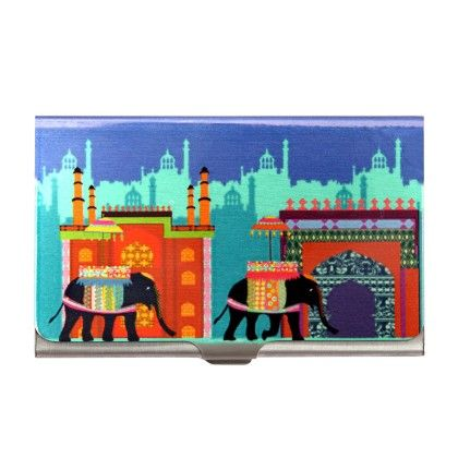 Steel Card Holder Elephant Savari - The Elephant Company