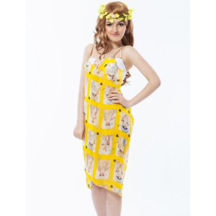 Coverup Beach Dress Sarong - Long Scarf Yellow - Ruby Swimwear