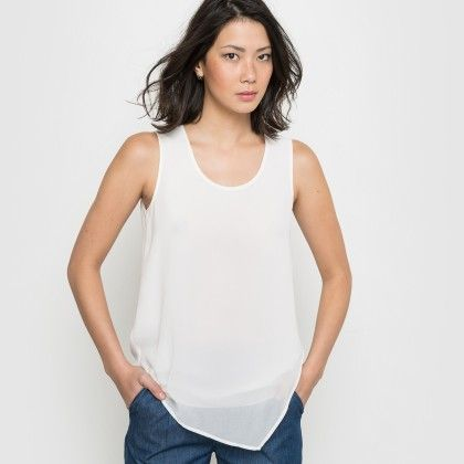 Ivory Basic Flowing Tank Top - La Redoute
