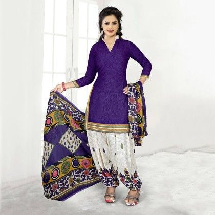 Embroidered Designer Wear Georgette Suit Dress Material - Balloono