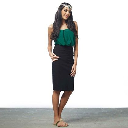 Black Bodycon Midi Skirt - The Label Life