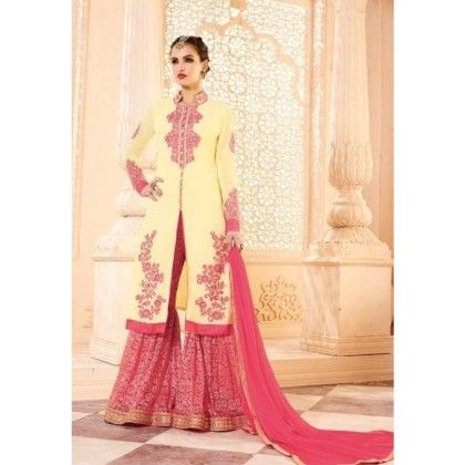 Multi Ethenic Wear With Suit And Skirt Dress Material - Balloono