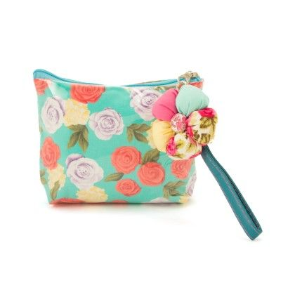 Small Multi Colour Rose Pouch - The EED