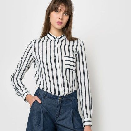 Striped One Pocket Shirt - Blue And White - La Redoute