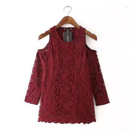 Lace Tops - Maroon - Oomph