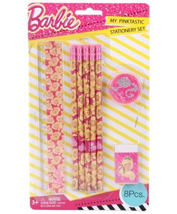 Barbie 8 Pieces Stationery Set - My Baby Excel
