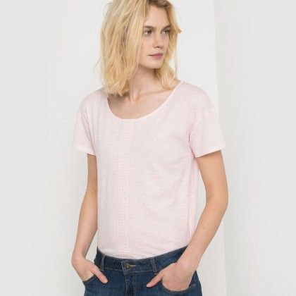 Rose Ple Fagotting Lace Front Top - La Redoute