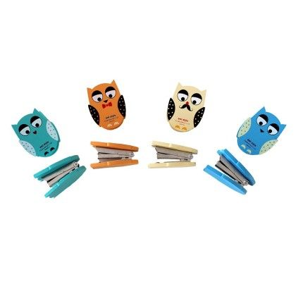 Vintage Owl Stapler Assorted 1 Unit - Assorted - Tee-K-Dee