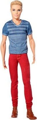 Barbie Fashionistas Ken Doll, Red Jeans And Blue Tee - Mattel