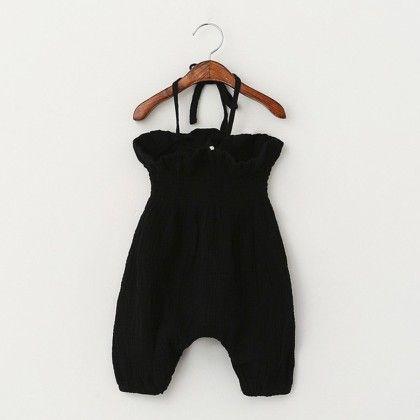 Black Halter Jumpsuit - Pumpkin