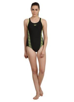 Swimsuit  Monogram Racerback - Black - Speedo