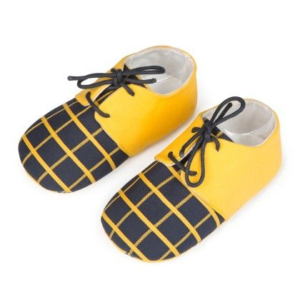 Lace Up Unisex Shoes - Yellow - Jute Baby
