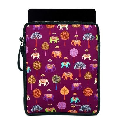 Ipad Sling Plum Elephants Carnival - The Elephant Company