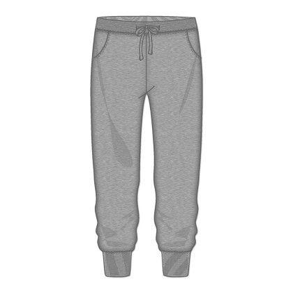 Solid Gray Jogger Pant - Rene Rofe