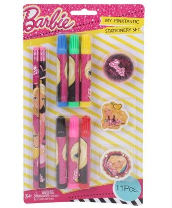 Barbie 11 Pieces Stationery Set - My Baby Excel