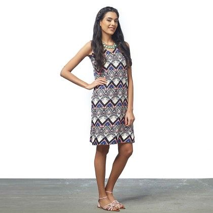 Abstract Neon Shift Dress - The Label Life
