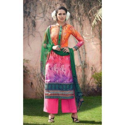 Multi Color Cotton Unstitched Suit Material - Stylelok