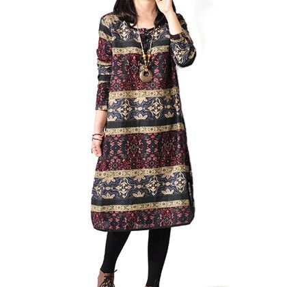 Ethnic Printed Short Dress - STUPA FASHION - 307140