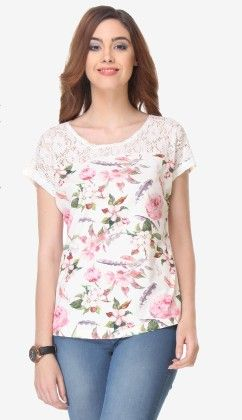Varanga Printed Off White-multi Color Knitted Top