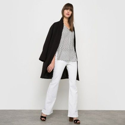 Printed Roll Up Sleeve Shirt - Printed And White - La Redoute