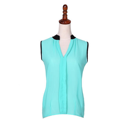 Sleeveless Turquoise Casual Top - Dell's World
