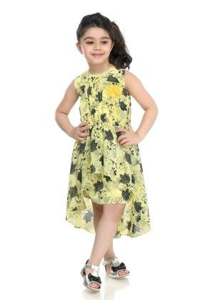 Yellow Floral Printed Dress - N-xt