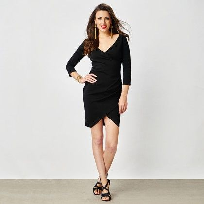 Black Ruched Bodycon Dress - The Label Life