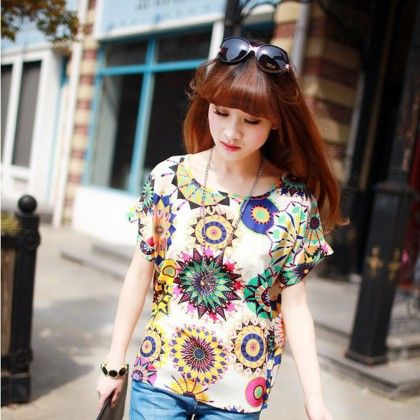 Multi Coloured Chiffon Top - Dell's World