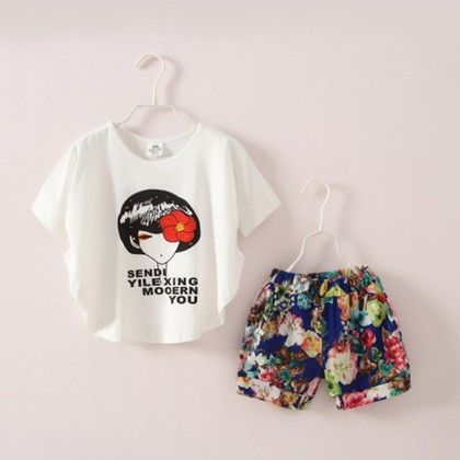 Batwing Top With Print Shorts - Mauve Collection
