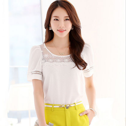 Low Neck Lace Top - Dell's World