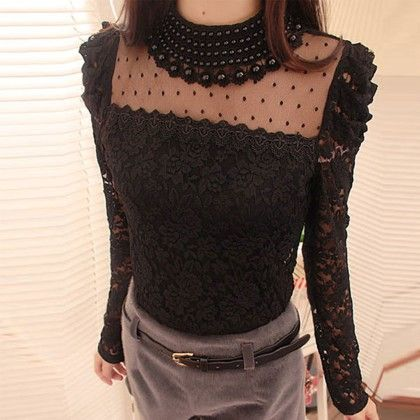 Beaded & Lace Top - Oomph