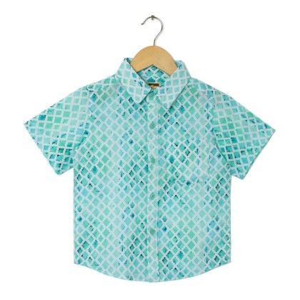Aqua Digital Printed Blue Shirt - Aqua - Hugs & Tugs