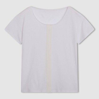 Blanc Fagotting Lace Front Top - La Redoute