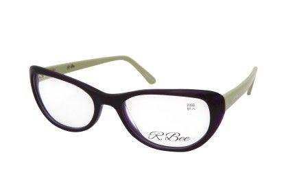 Cat Eye Purple Black Front Green Side - RBee Sunglasses
