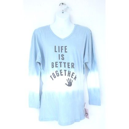 Blue Life Is Better Together Long Sleeves Maternity Tee - Silly Souls