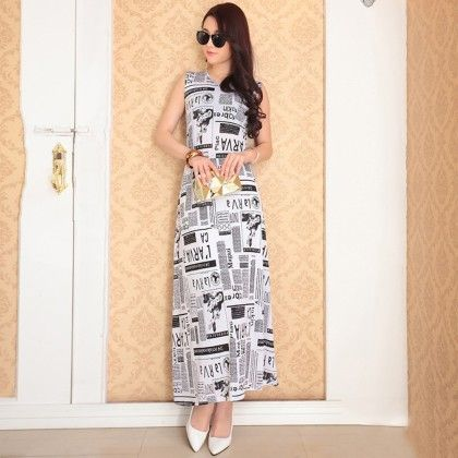 Designer News Partywear Long Dress - Dell's World