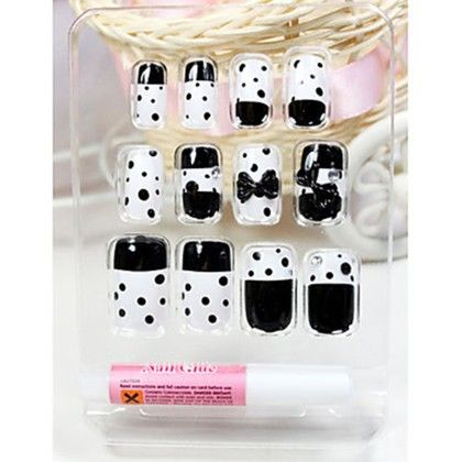 Faux Nails - Polka Sticker - Oomph