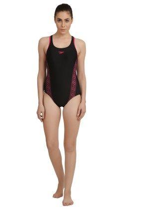 Swimsuit  Monogram-racerback - Black - Speedo